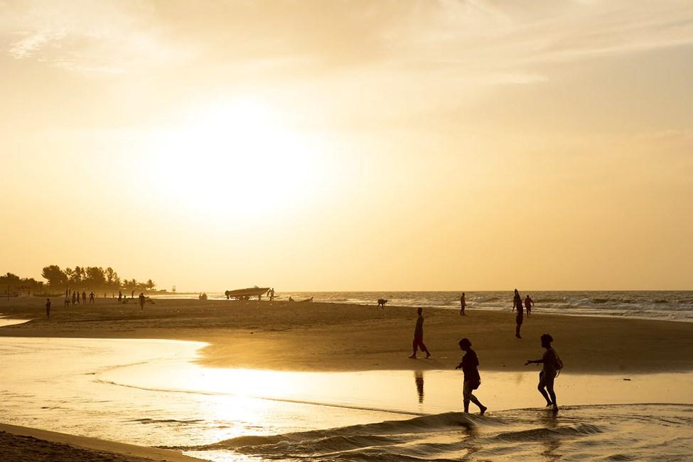 Sunset Beachin vieressä sijaitseva ranta