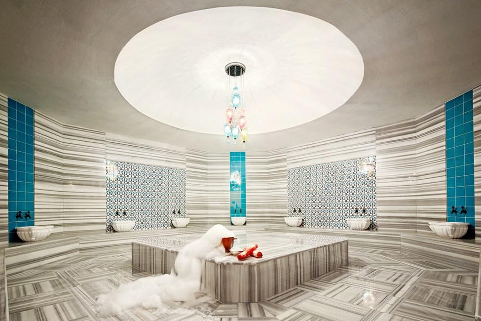 Hotellin spa-osastolla on myös hamam