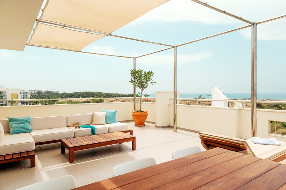 Royal Rooftop Suite -huoneiston terassi