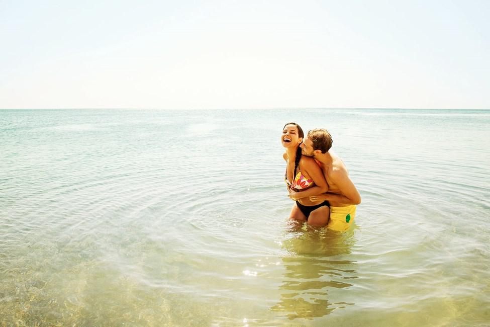 Välimereen on mukava pulahtaa vilvoittautumaan kuumana kesäpäivänä
