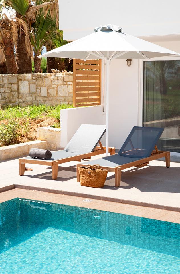 Classic Suite, jonka terassilta suora yhteys uima-altaaseen