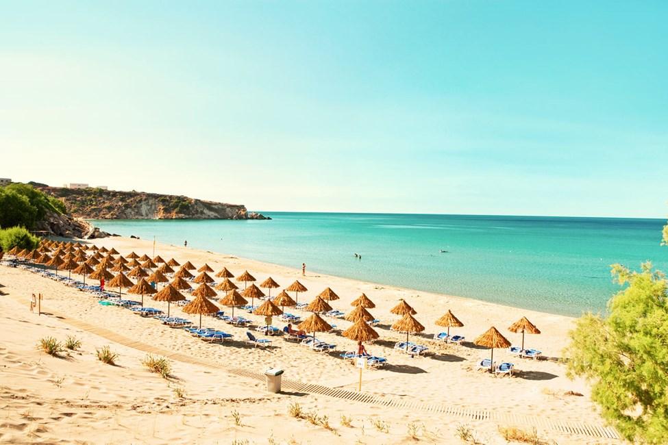 Sunwing Makrigialos Beach -hotellin lähellä on yksi Kreikan ihanimmista rannoista.