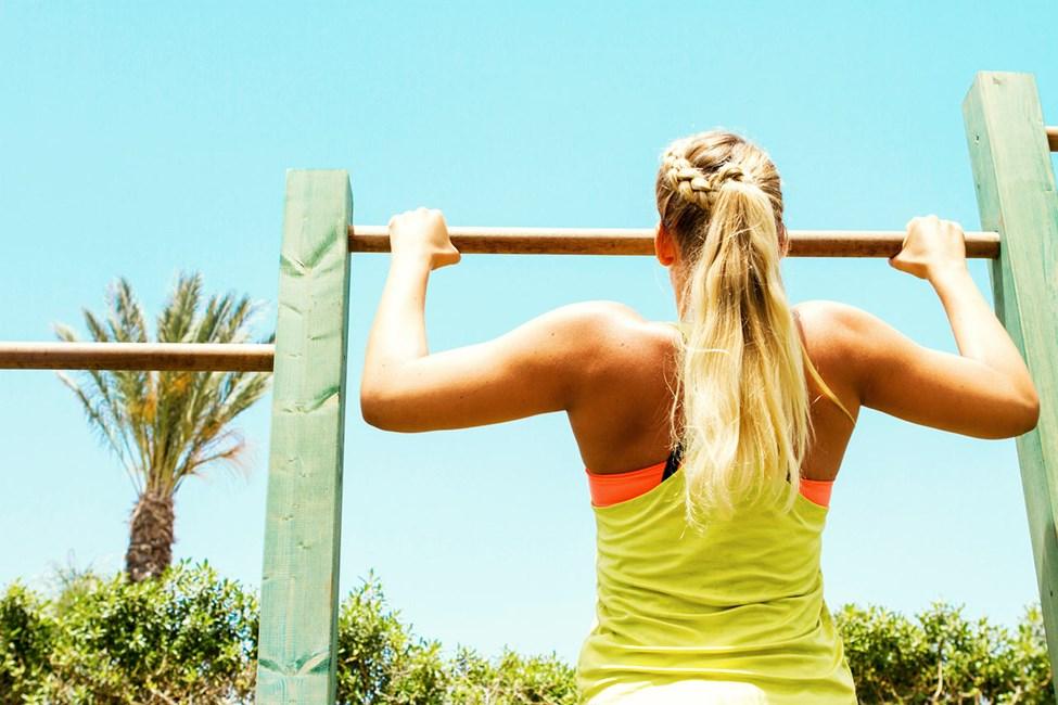 Sunwing Sandy Bay Beachissa on ulkona kuntosali, jossa voit treenata avoimen taivaan alla