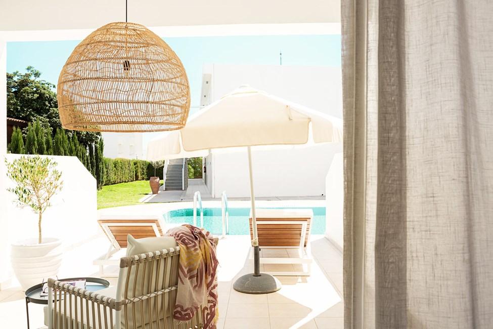 Prime Pool Suite, 1 huone, suurelta terassilta pääsy yksityiseen, jaettuun altaaseen