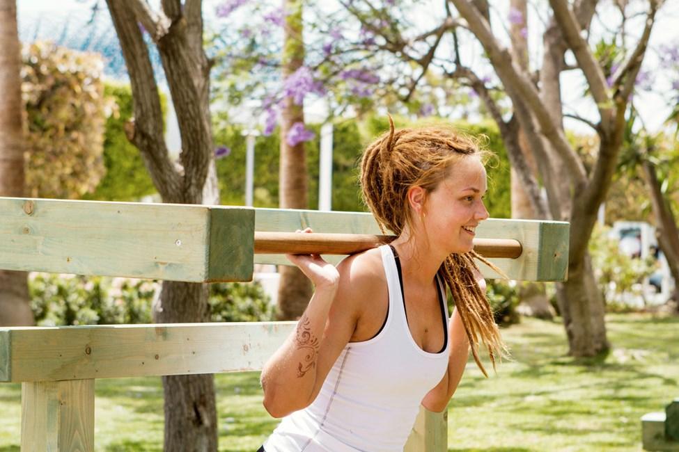 Mikäli haluat treenata ulkona, voit suunnistaa Sunwing Sandy Bay Beachin ulkokuntosalille