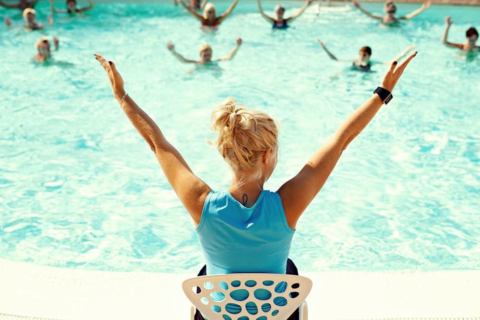 Water Aerobics on yksi hotellin suosituimmista aktiviteeteista