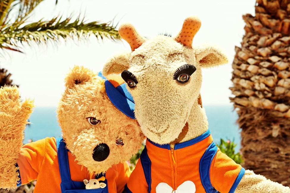 Tjäreborgin maskotit, Lollo & Bernie, ovat kaikkien lasten suosikkikaverit lomalla