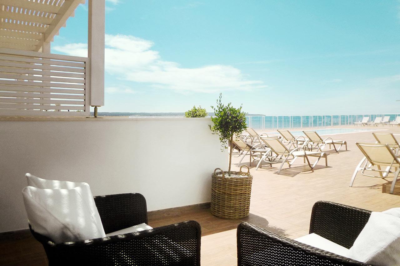 Prime Rooftop Suite, suuri terassi ja merinäköala sekä pääsy kattoterassille