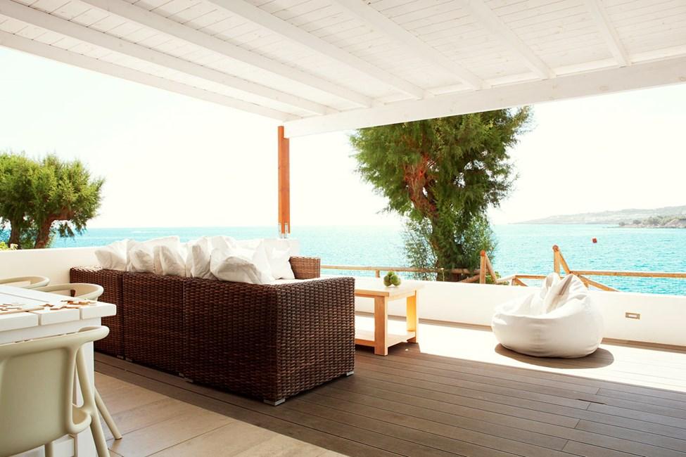 Royal Lounge Suite -kolmio, iso terassi ja merinäköala, lähinnä rantaa (Poseidon)