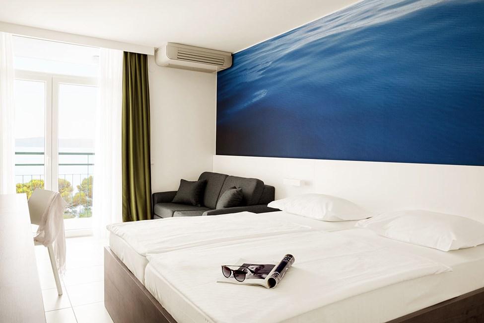 Kahden hengen superior-huone, rajoitettu merinäköala