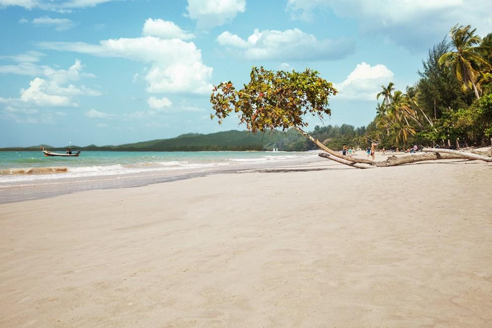 Kaunis White Sand Beach Khao Lakissa, Thaimaassa