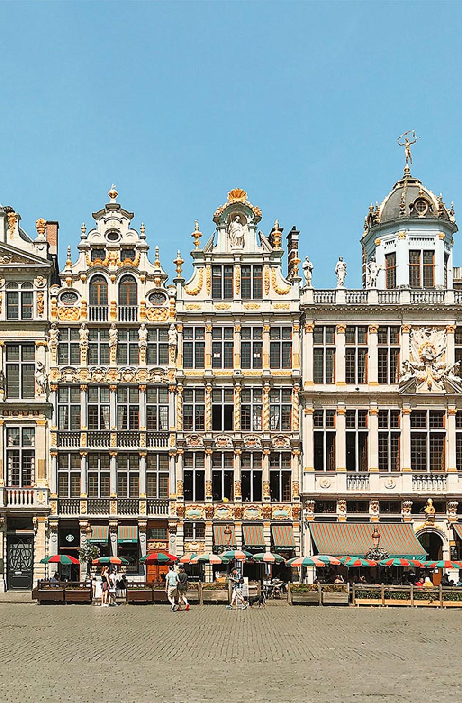 Kaunista arkkitehtuuri Grand-Place -aukiolla