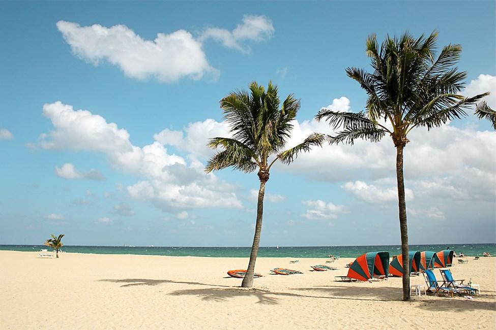 Kymmenien kilometrien pituinen Fort Lauderdalen hiekkaranta
