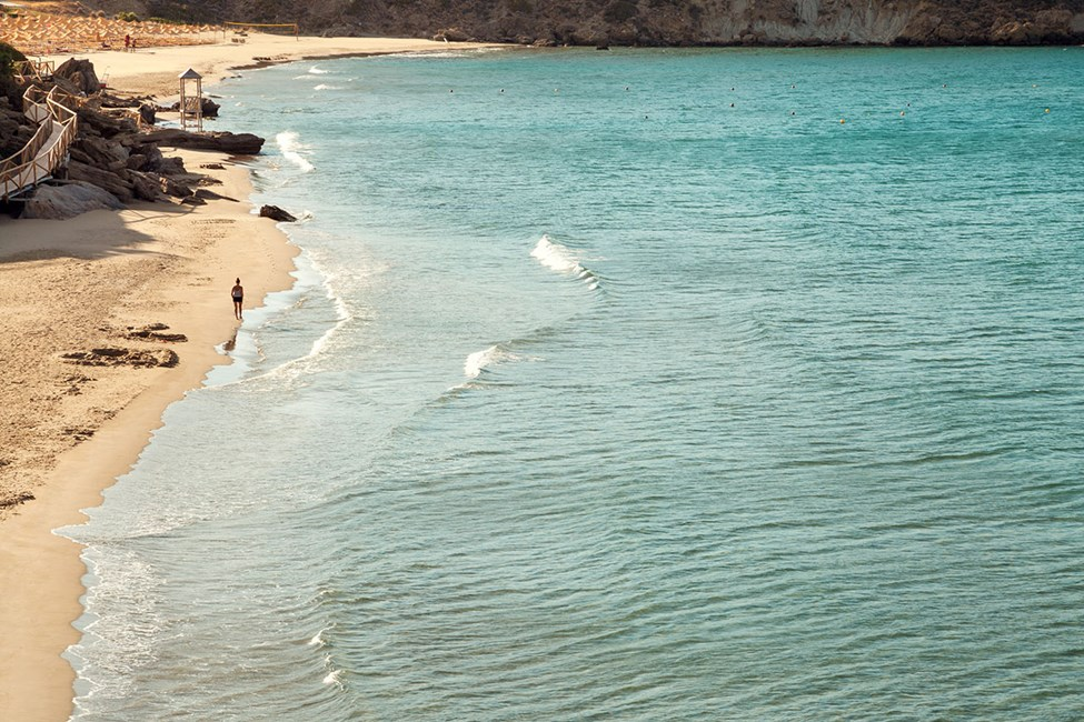 Ocean Beach Clubin alapuolella oleva ranta