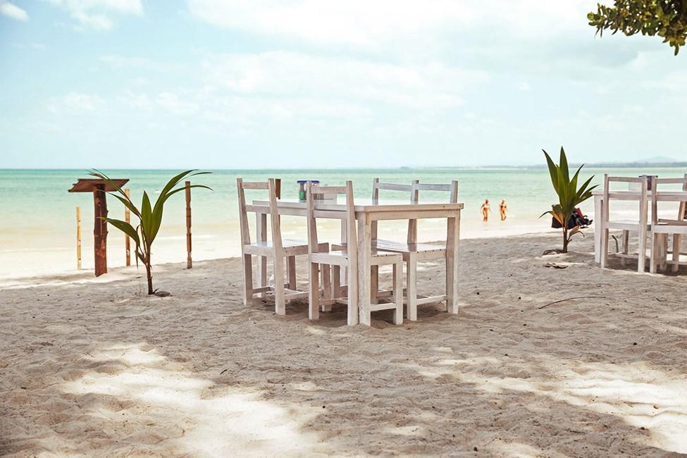Kaunis, liidunvalkoinen White Sand Beach