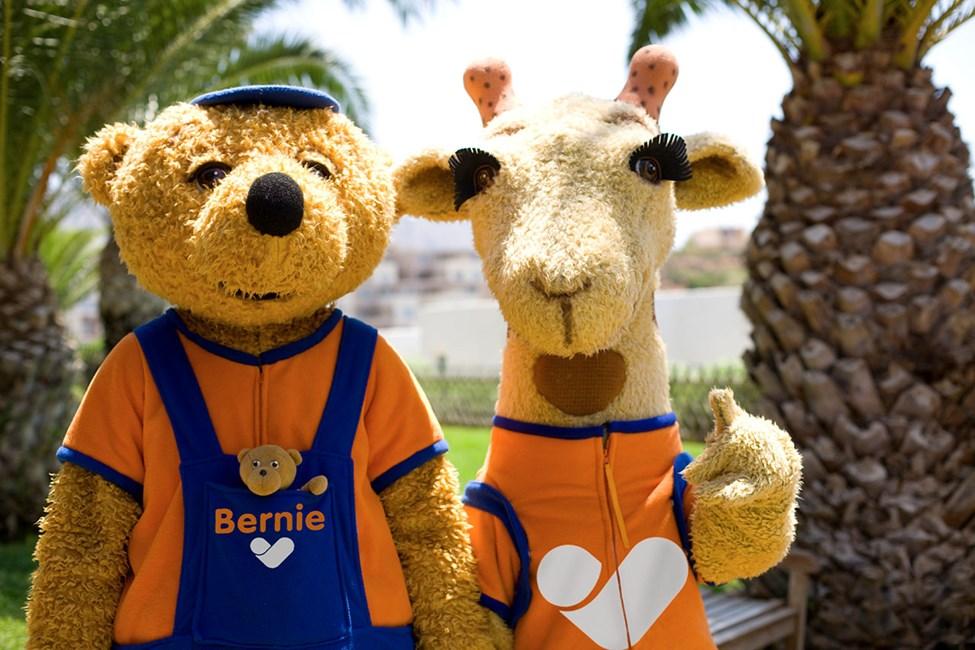 Lollo & Bernie ovat tavattavissa myös Family Garden Waterworld Makadi Beachissä
