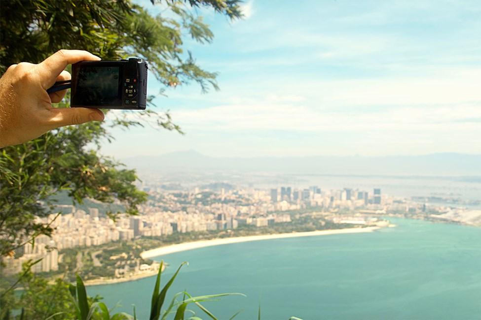 Näkymät Sokeritoppavuorelta Rio de Janeiron suuntaan