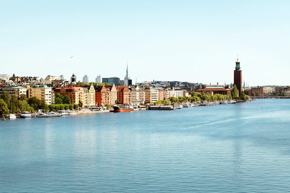 Norr Mälarstrand kuvattuna Västerbron-sillalta