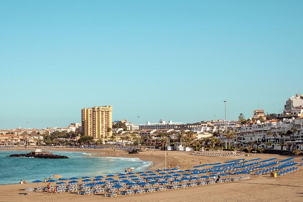 Leveä Playa de las Vistas -ranta