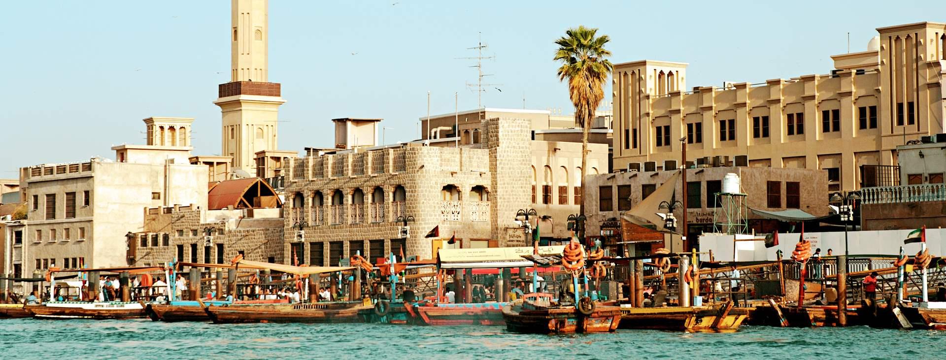 Bur Dubai on rauhallisempi kaupunginosa Downtown Dubain yläpuolella