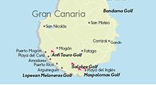 Kartta golfkohteista, Gran Canaria