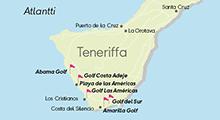 Kartta golfkohteista, Teneriffa